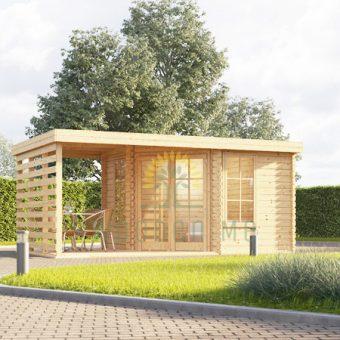 Koka māja Aisne plus 8 m² + terase