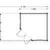 Koka māja Aisne plus 8 m² + terase - vidaus brėžinys