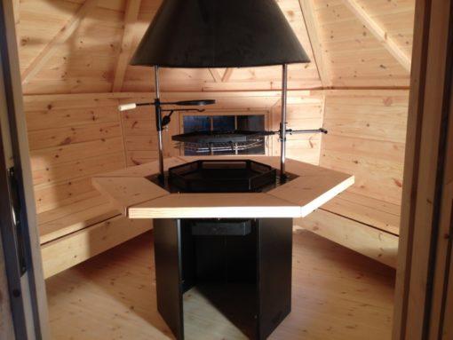 Grilla mājiņa 4.5 m² vidus