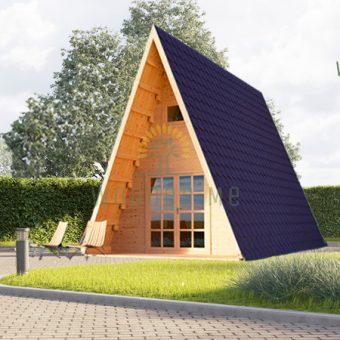 Dārza māja TIPI 22.7m² + 5.1m², 44 mm