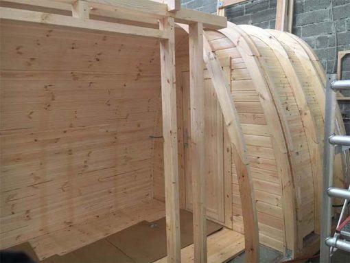 Grezns Kempings Pod 2.4 m x 6.6 m ( ar ieeju no sāna )