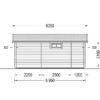 Vasarnīcas Alto plakanais jumts 28m² + 8.65m² terasa - zīmējums no aizmugures