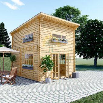 Dārza māja AVIGNON plakans jumts 17m²
