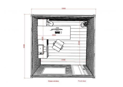 Siltināta māja Favorit 3 - zīmējums