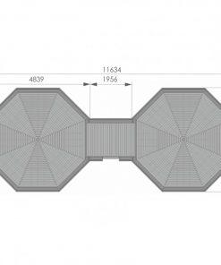 Kempinga kabīne 16.5m² + 16.5m² - PLĀNS