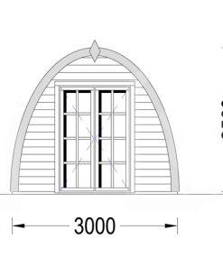 Dārza mājiņa Pod 13m², 30mm
