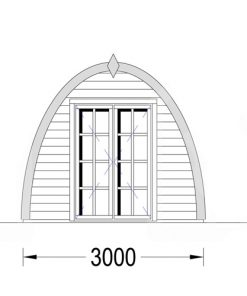 Dārza mājiņa Pod 16m², 30mm: