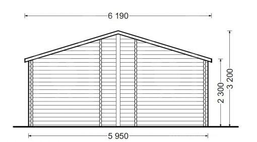 Vasarnīca BOSTON 103 m², 66mm/44mm+44mm - Atpakaļ