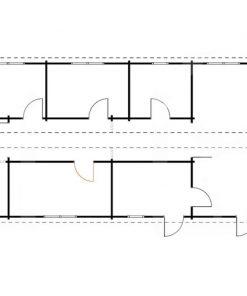 Vasarnīca BOSTON 103 m², 66mm/44mm+44mm - plāns