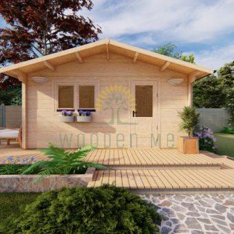 Dārza mājiņa ECO 5 m x 5.7 m 44 mm