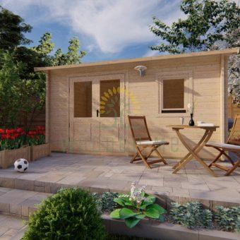 Dārza māja Erna 2,5 x 4,5m, 44 mm