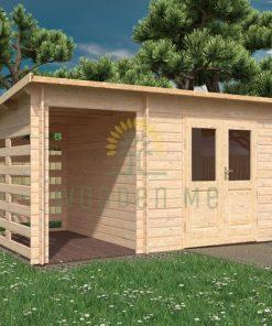 Koka māja LIMA 4,5x3m, 28 mm