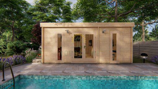 Dārza māja OTAWA 6m x 4.5m, 44 mm
