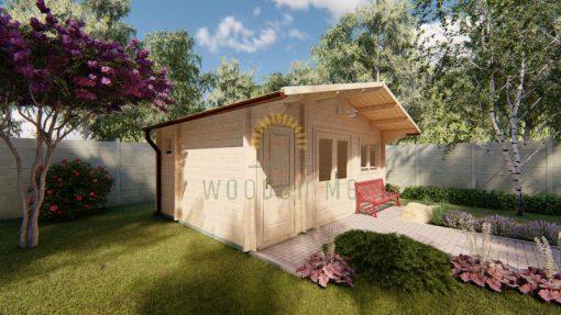 Dārza mājiņa ROBERTO 5,6m x 4m, 44 mm