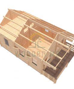 Dārza mājiņa TORINO 4.5m x 6m, 44 mm / 68 mm