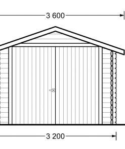 Garāža 14,8m² (3,20m x 5,20m, 44mm)