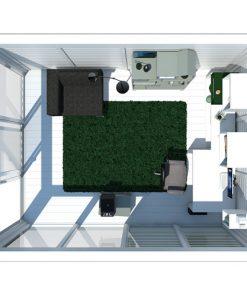Siltināta māja Cube-Dārza birojs (3 m x 4 m)
