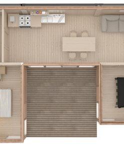 GLAMPING CUBE 51 m² (U Forma)
