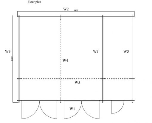 Divvietīga garāža Favori 5.7m x 7.7m; (43.7 m²)
