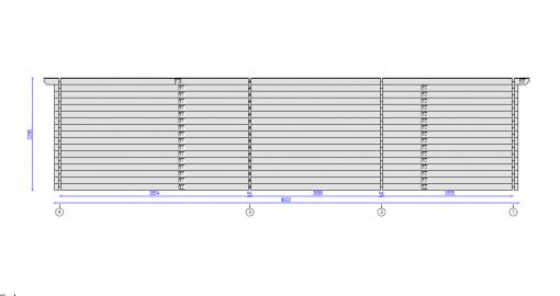 Tivoli - Divvietīga nojume ar škūni (5,95 m x 7.5m), 44mm
