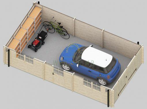 Garāža Woody 3.7 m x 7.2 m (26.8 m²)