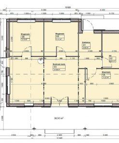 Vasarnīca Tulipa A (74.1 m²) - Plan
